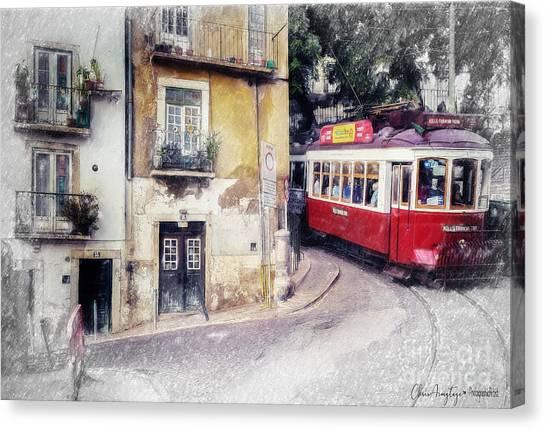 Historic Lisbon Tram Canvas Print