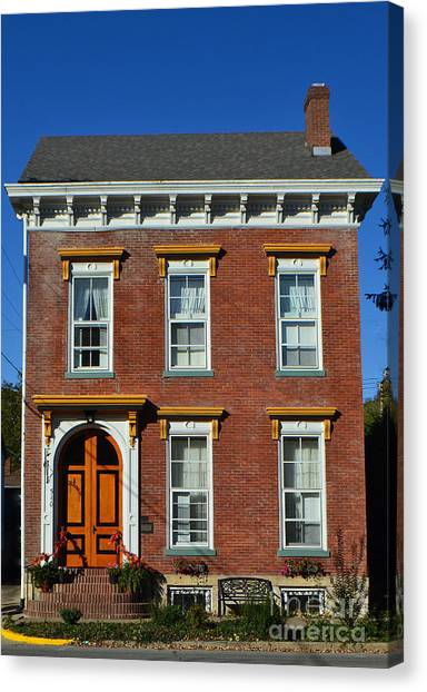 Historic Madison Row House Canvas Print