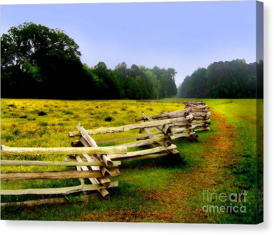 Canvas Print featuring the photograph Historic Path Natchez Trace Parkway by T Lowry Wilson