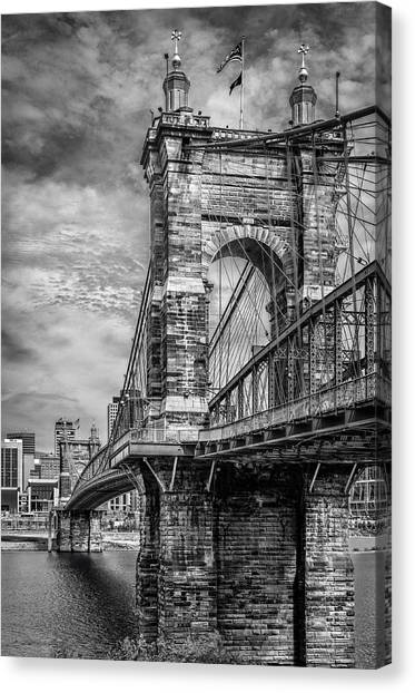 Historic Roebling Bridge Canvas Print
