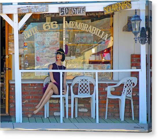 Historic Route 66 Memorabilia Canvas Print