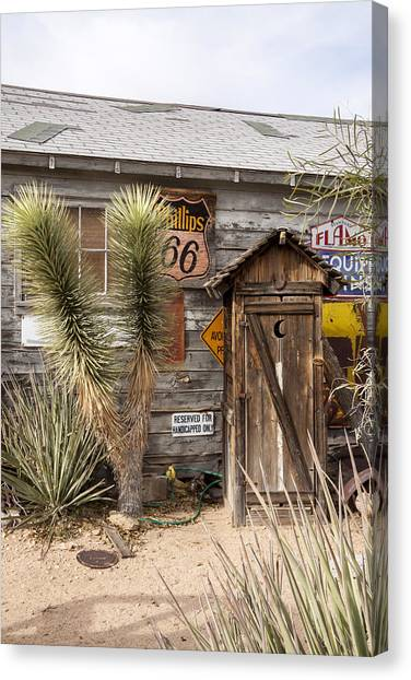 Historic Route 66 - Outhouse 1 Canvas Print