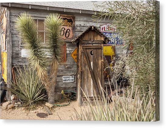 Historic Route 66 - Outhouse 2 Canvas Print