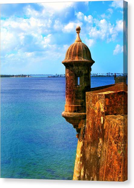 Spanish Fort Canvas Print - Historic San Juan Fort by Perry Webster