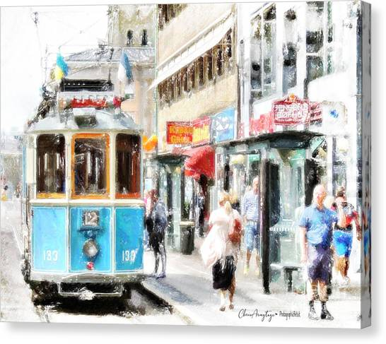 Historic Stockholm Tram Canvas Print