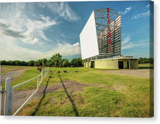 Canvas Print featuring the photograph Historic Tulsa Admiral Twin Drive-in by Gregory Ballos
