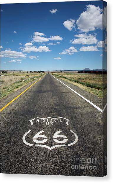 Historica Us Route 66 Arizona Canvas Print