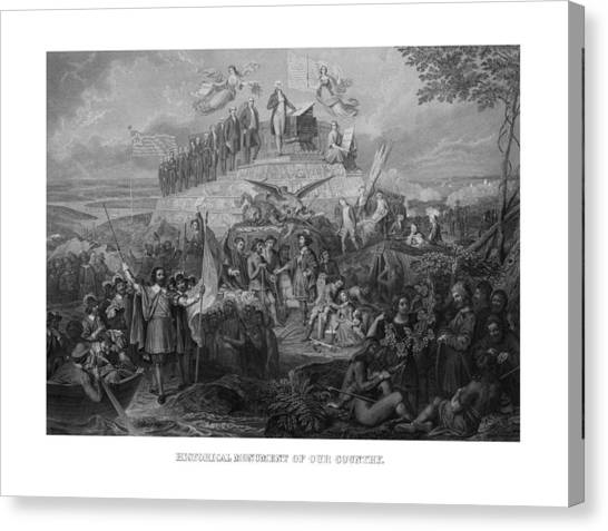 Pilgrims Canvas Print - Historical Monument Of Our Country by War Is Hell Store