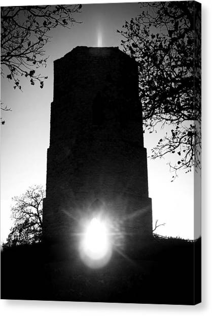 Historical Water Tower At Sunset Canvas Print