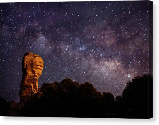 Hitchcock Pinnacle Nightscape -- Milky Way Canvas Print