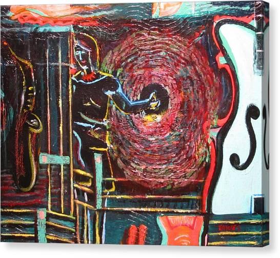 Hitchhiking Through Sound Canvas Print