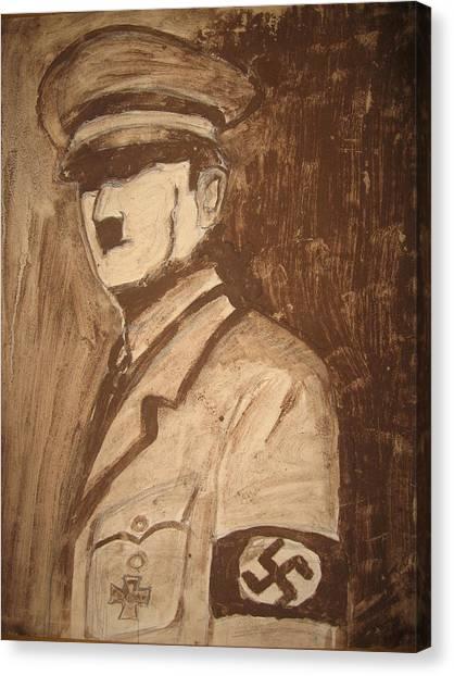 Hitller Canvas Print by Ruangseni Art