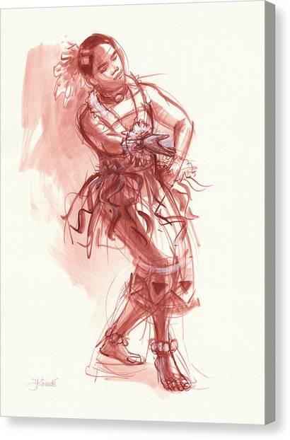 Hiva, Dancer Of Tonga Canvas Print