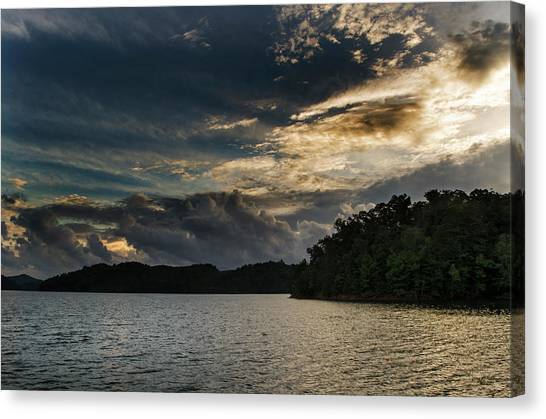 Hiwassee Lake From Hanging Dog Recreation Area Canvas Print