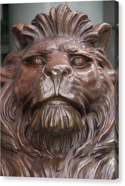 Hksb Lion Canvas Print