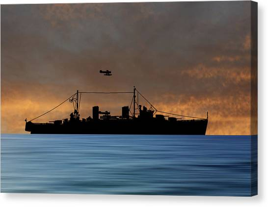 Royal Navy Canvas Print - Hms Aboukir 1936 V3 by Smart Aviation