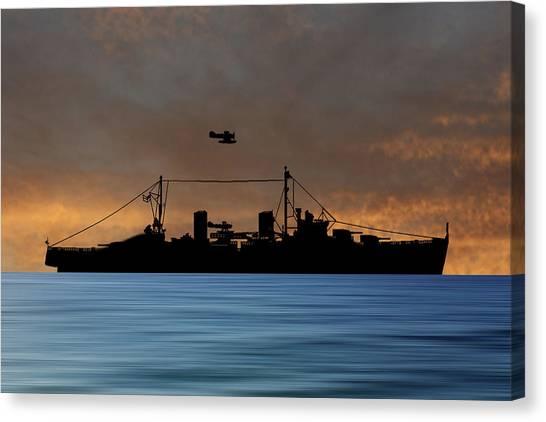 Royal Navy Canvas Print - Hms Arboukir 1937 V3 by Smart Aviation