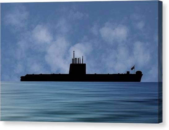 Submarine Canvas Print - Hms Oberon 1976 V1 by Smart Aviation