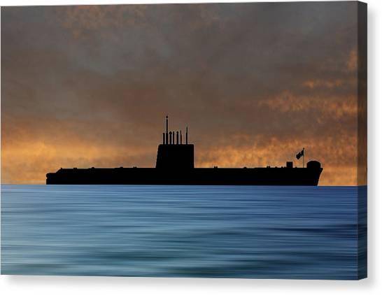 Submarine Canvas Print - Hms Oberon 1976 V3 by Smart Aviation
