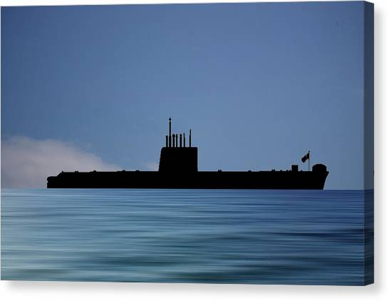 Submarine Canvas Print - Hms Oberon 1976 V4 by Smart Aviation