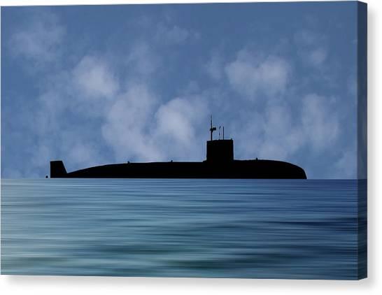 Submarine Canvas Print - Hms Sovereign 1973 V1 by Smart Aviation
