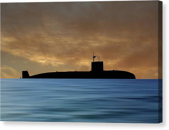 Submarine Canvas Print - Hms Sovereign 1973 V2 by Smart Aviation