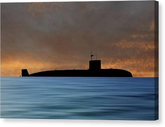 Submarine Canvas Print - Hms Sovereign 1973 V3 by Smart Aviation