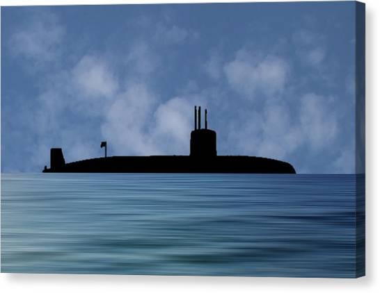 Submarine Canvas Print - Hms Valiant 1972 V1 by Smart Aviation