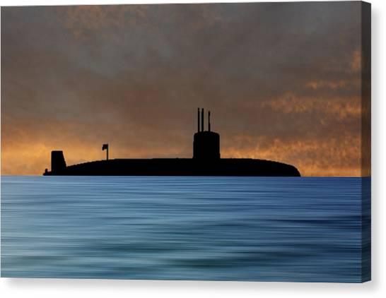 Submarine Canvas Print - Hms Valiant 1972 V3 by Smart Aviation