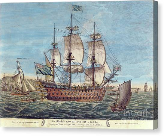 Royal Marines Canvas Print - Hms Victory by English School