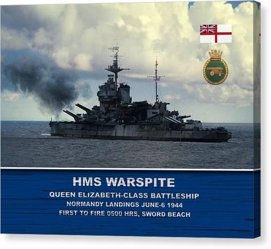 Hms Warspite Canvas Print