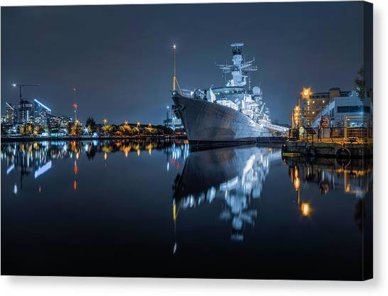 Hms Westminster Canvas Print