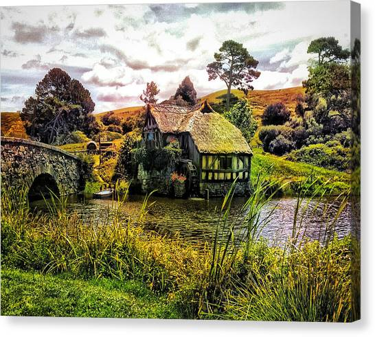 Hobbiton Mill And Bridge Canvas Print