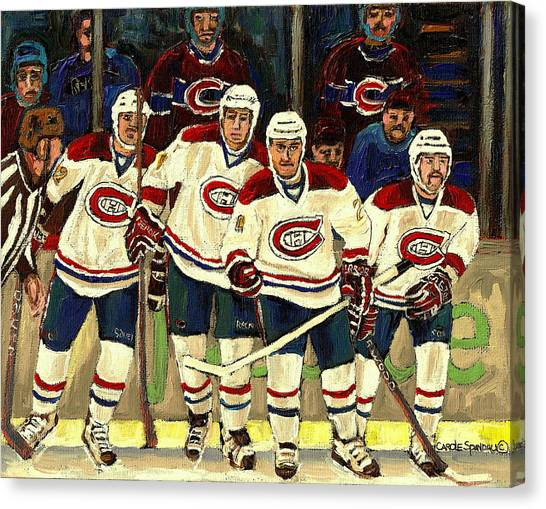 Hockey Art The Habs Fab Four Canvas Print