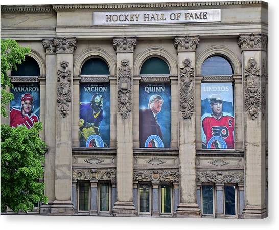 Gordie Howe Canvas Print - Hockey Hall Of Fame by Frozen in Time Fine Art Photography
