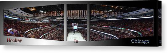 Patrick Kane Canvas Print - Hockey In Chicago Triptych 3 Panel by Thomas Woolworth