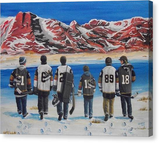 Vegas Golden Knights Canvas Print - Hockey In The Desert by Ron Genest