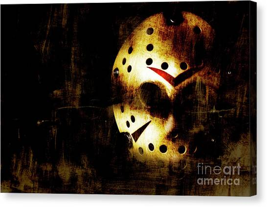 Hockey Players Canvas Print - Hockey Mask Horror by Jorgo Photography - Wall Art Gallery