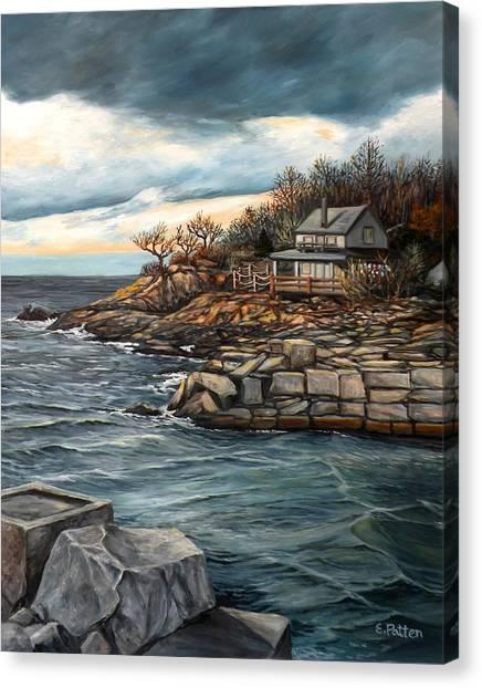Hodgkins Cove Gloucester Ma Canvas Print