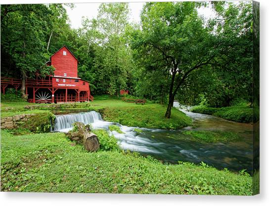 Hodgson Water Mill And Spring Canvas Print