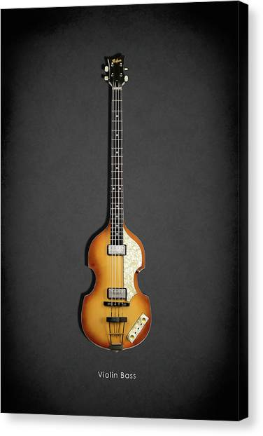 Paul Mccartney Canvas Print - Hofner Violin Bass 62 by Mark Rogan