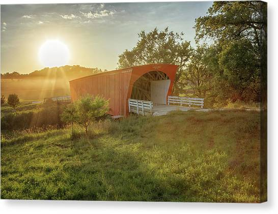 Hogback Covered Bridge 2 Canvas Print