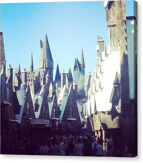 Wizards Canvas Print - #hogsmeade #hogwarts #hp #harry #potter by Saskia Joens