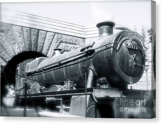 Hogwarts Express Black And White Canvas Print