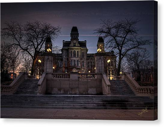 Syracuse University Canvas Print - Hogwarts - Hall Of Languages by Everet Regal