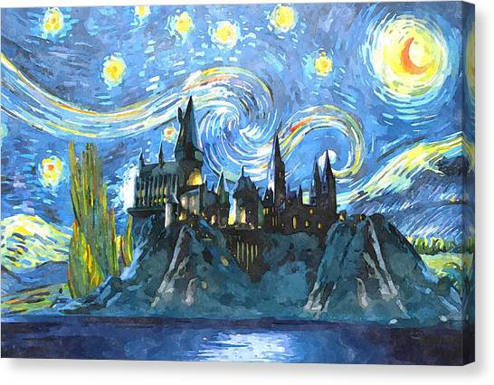 Harry Potter Canvas Print - Harry Potter Starry Night by Midex Planet