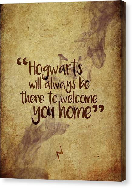 Harry Potter Canvas Print - Hogwarts Is Home by Samuel Whitton