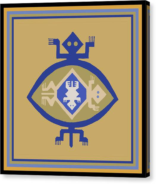 Hohokam Mimbres Turtle Family Canvas Print