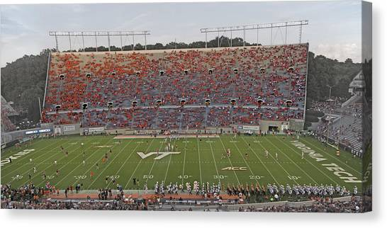 Virginia Polytechnic Institute And State University Virginia Tech Canvas Print - Hokies Assemble  by Betsy Knapp