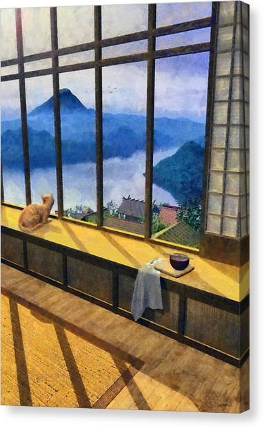 Mount Fuji Canvas Print - Hokusai Painted by Cynthia Decker